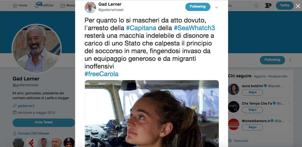 Chi difende Carola, la Capitana della Sea Watch