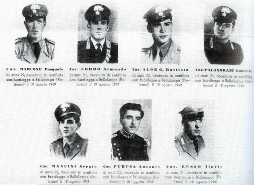Bellolampo: 70 anni fa la strage dei Carabinieri
