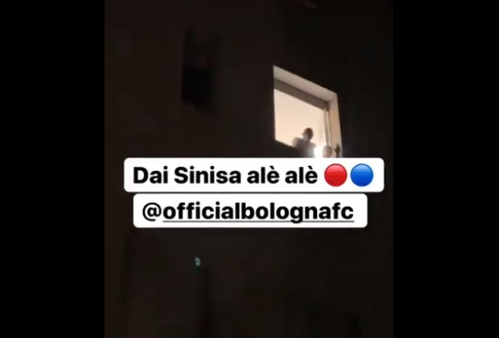 I giocatori del Bologna in ospedale da Mihajlovic dopo Brescia I VIDEO