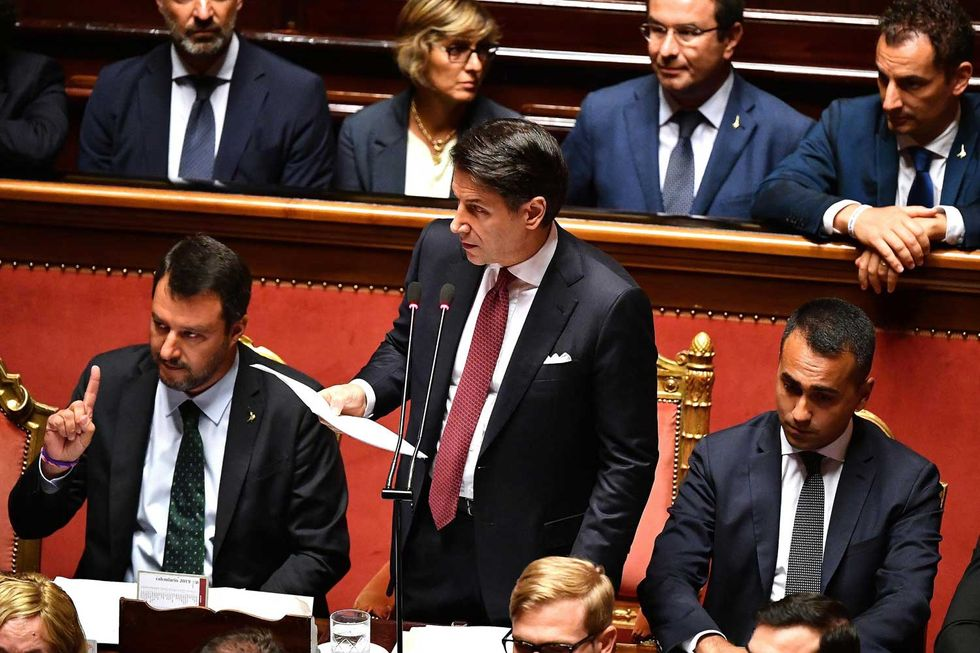 Salvini-Senato-Conte-facce-1