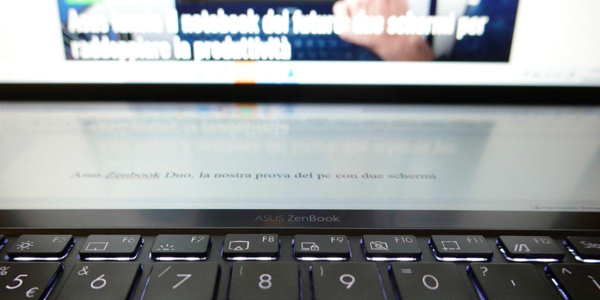 Azus ZenBook pc due schermi