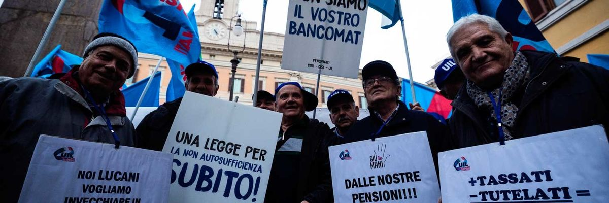 pensionati manifestazione roma