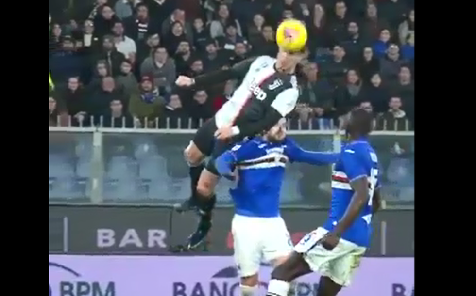 Ronaldo, che stacco nel gol di testa in Sampdoria-Juventus I VIDEO