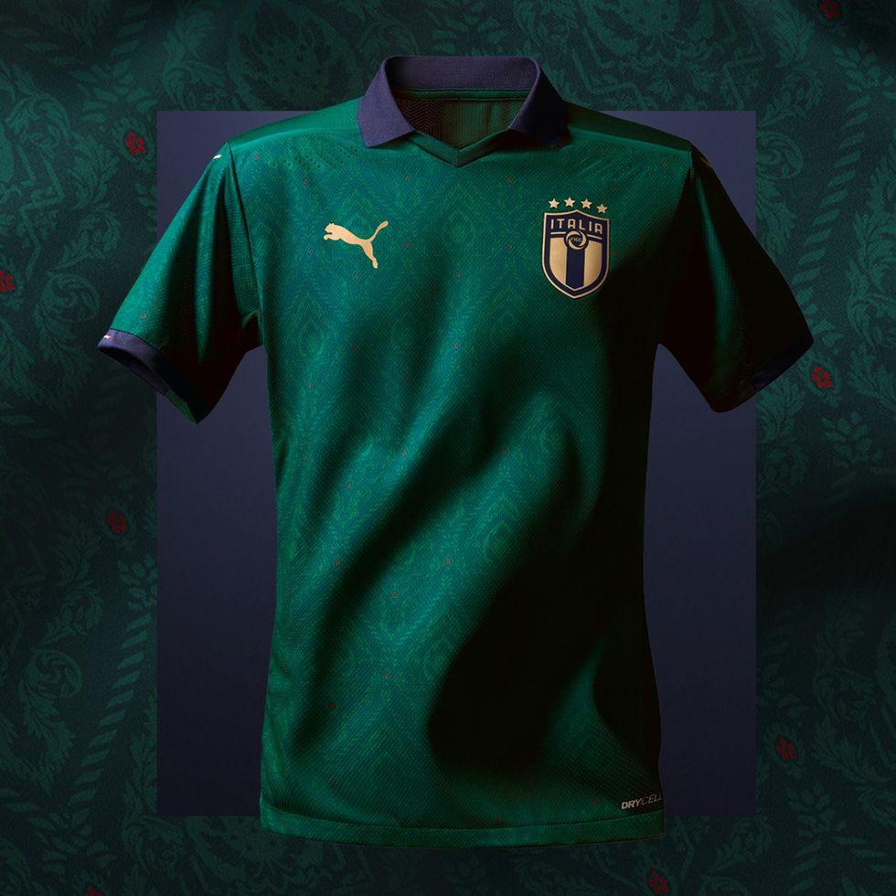 nazionale terza maglia verde puma