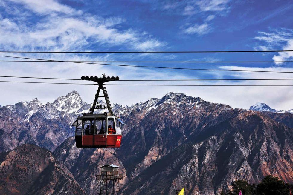 Auli, High Altitude Cable Car, Longest ropeway of Asia, Joshimath, Uttarakhand, India
