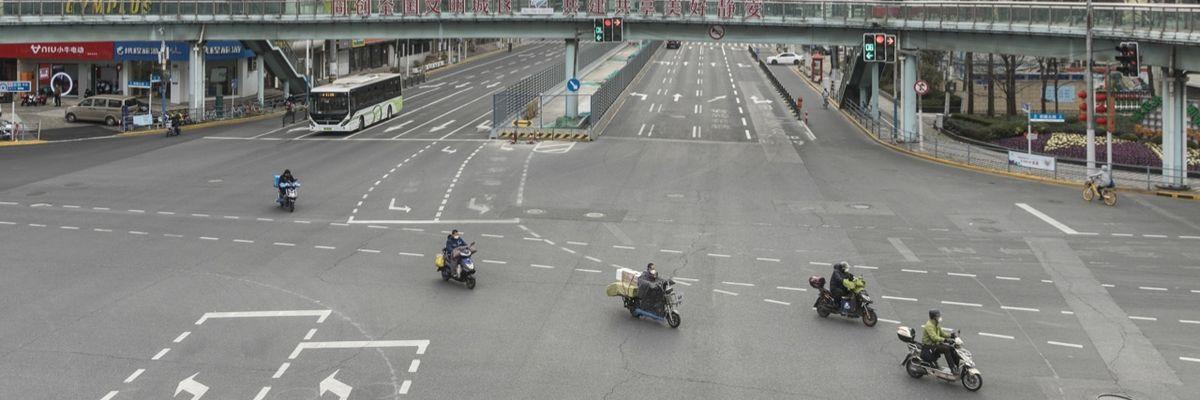 Coronavirus: Shanghai, città deserta