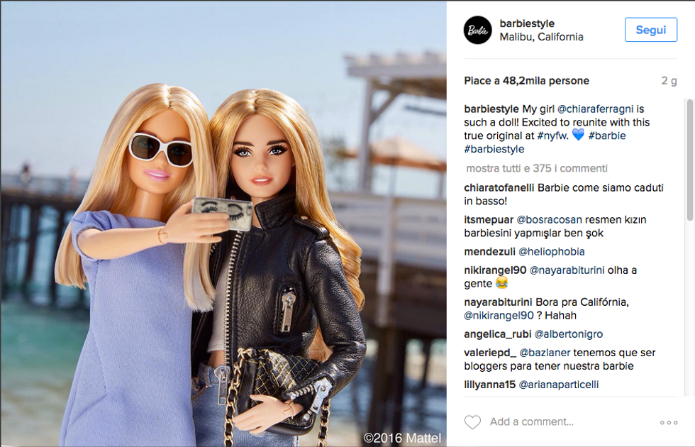 La Barbie con le fattezze di Chiara Ferragni