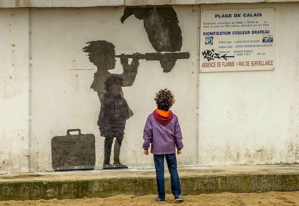 Bansky a Calais