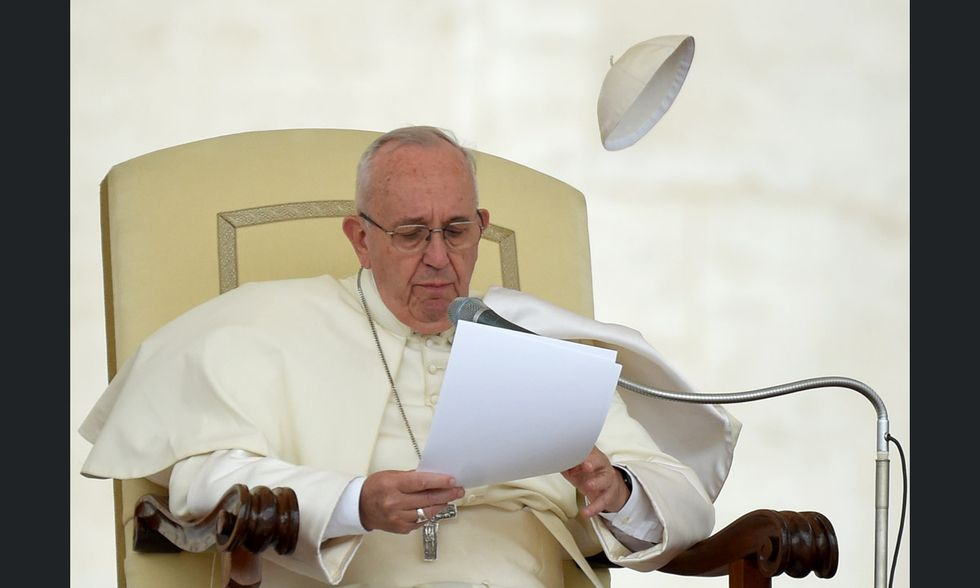 Lo zucchetto di Papa Francesco