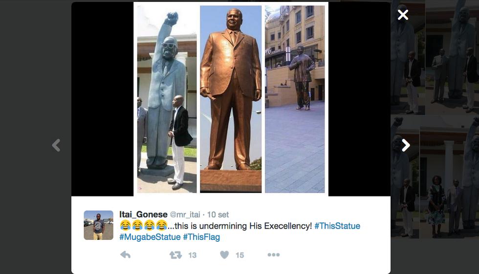 Zimbabwe, l'ironia social per la statua del Presidente Robert Mugabe
