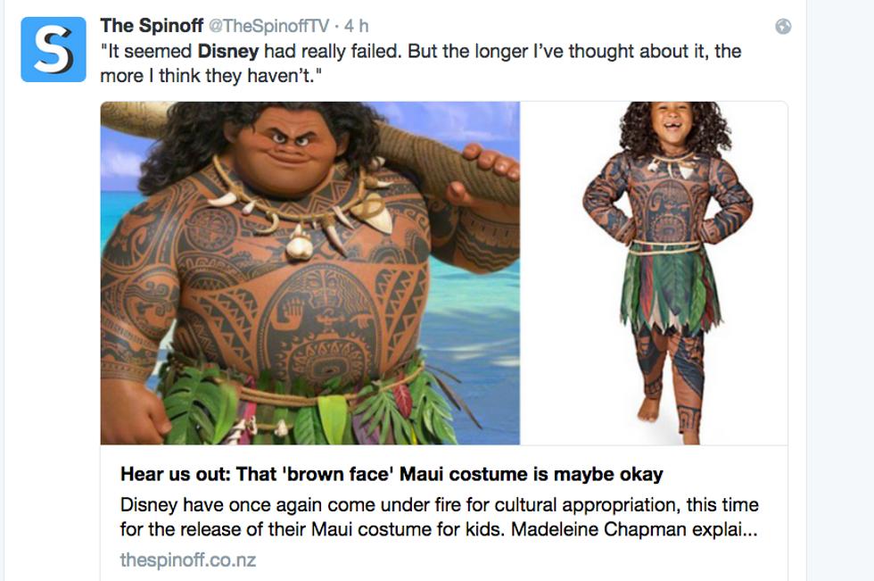 Twitter, polemica sul costume Maui della Disney