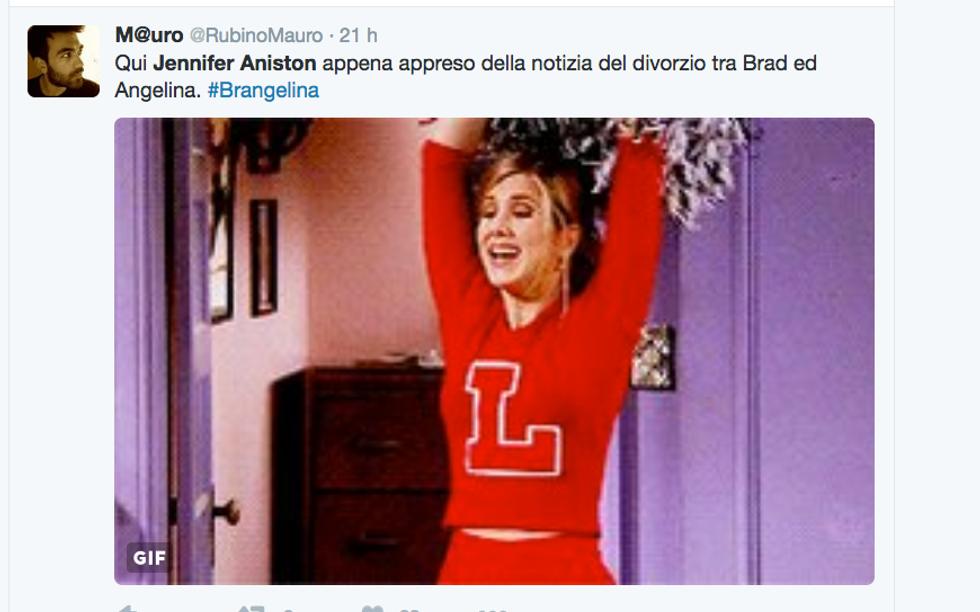 Divorzio Brangelina: Jennifer Aniston regina sui social