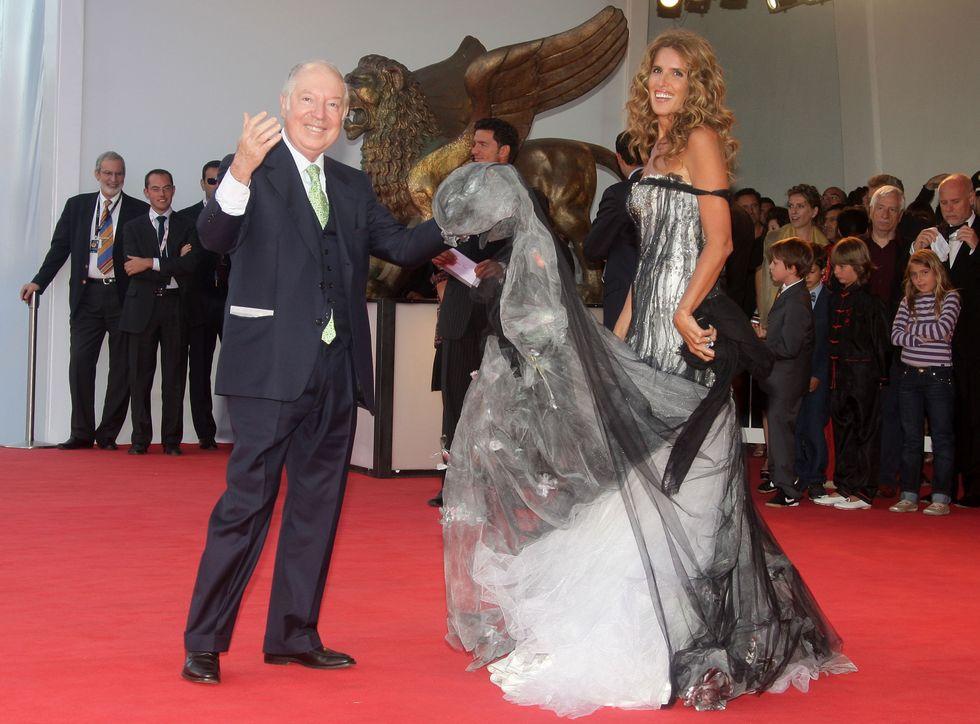 Il Principe Carlo Giovannelli co Tiziana Rocca al Festival del Cinema di Venezia