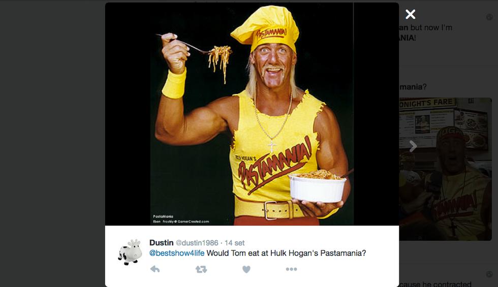 Hulk Hogan volto di PastaMania