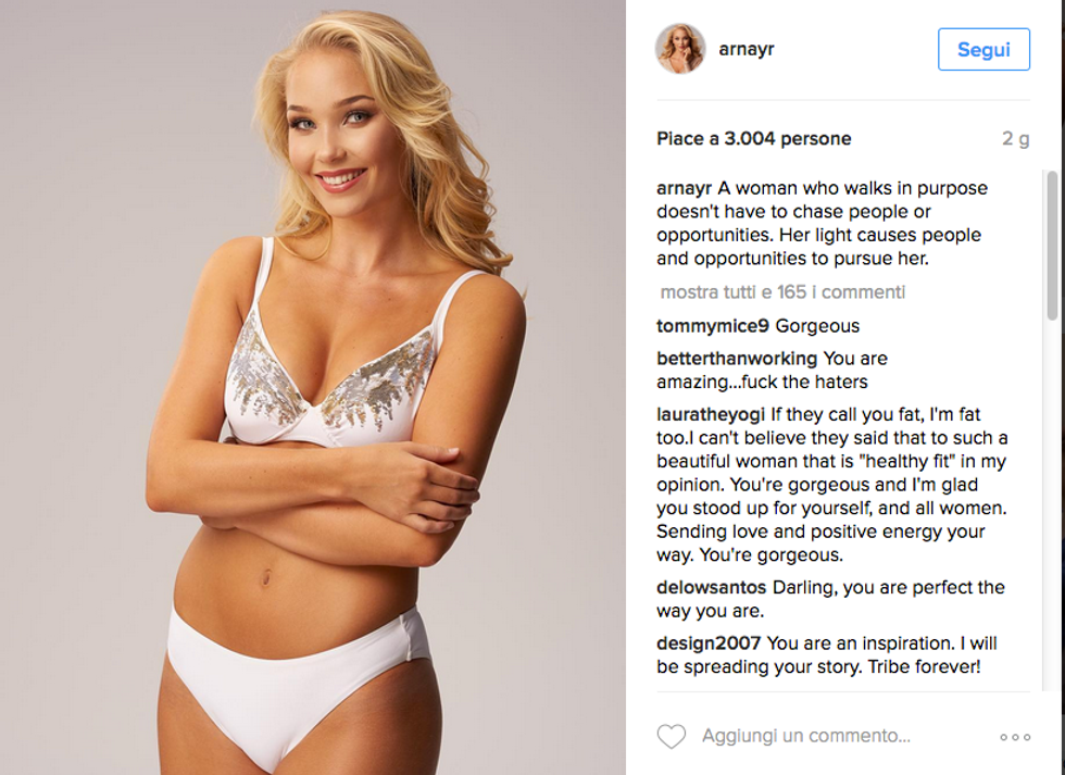 Arna Ýr Jónsdóttir, la Miss troppo grassa