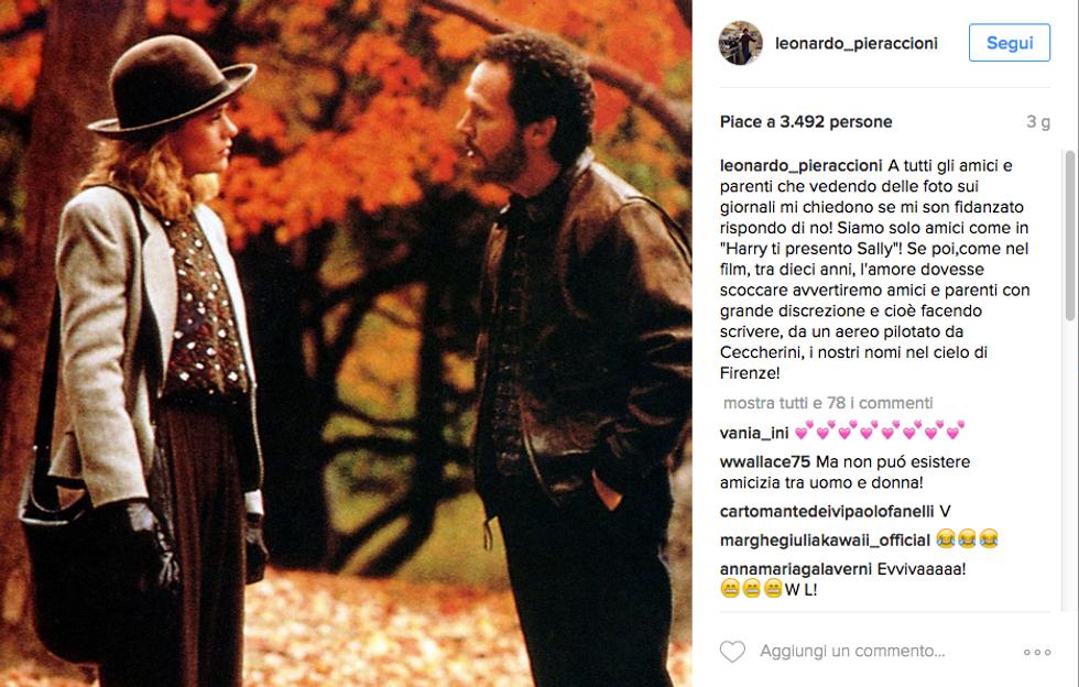 La smentita di Pieraccioni è affidata a Instagram