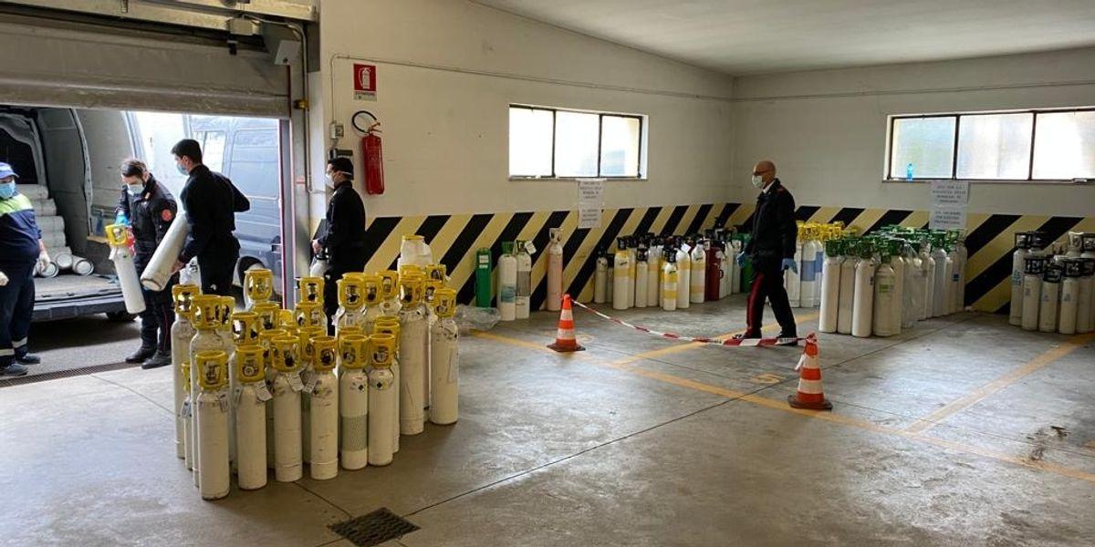 «L'ossigeno» dei Carabinieri per Bergamo