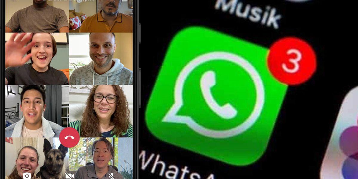 WhatsApp ora connette fino a 8 persone e piace anche agli utenti business