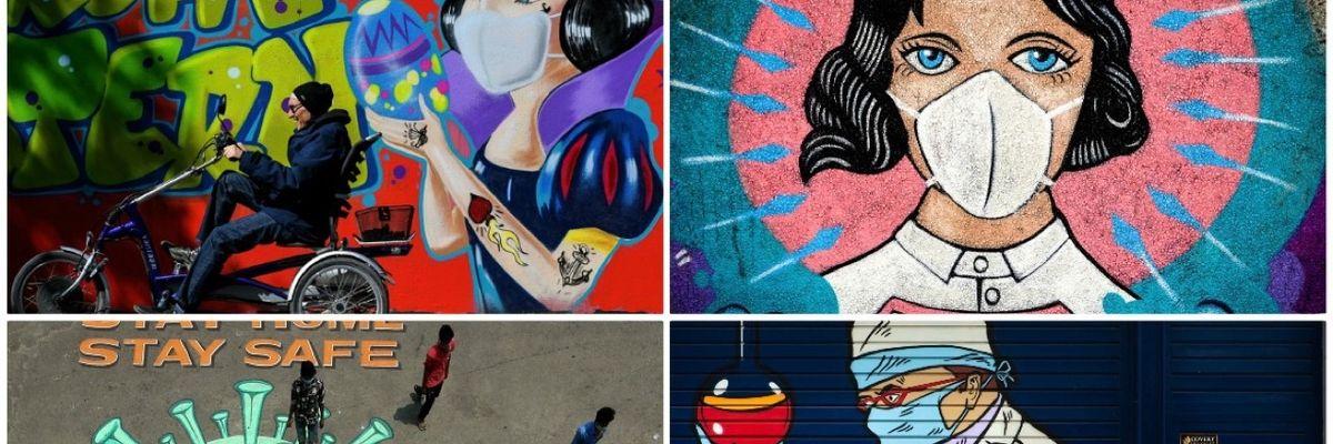 Il Coronavirus raccontato dalla street art