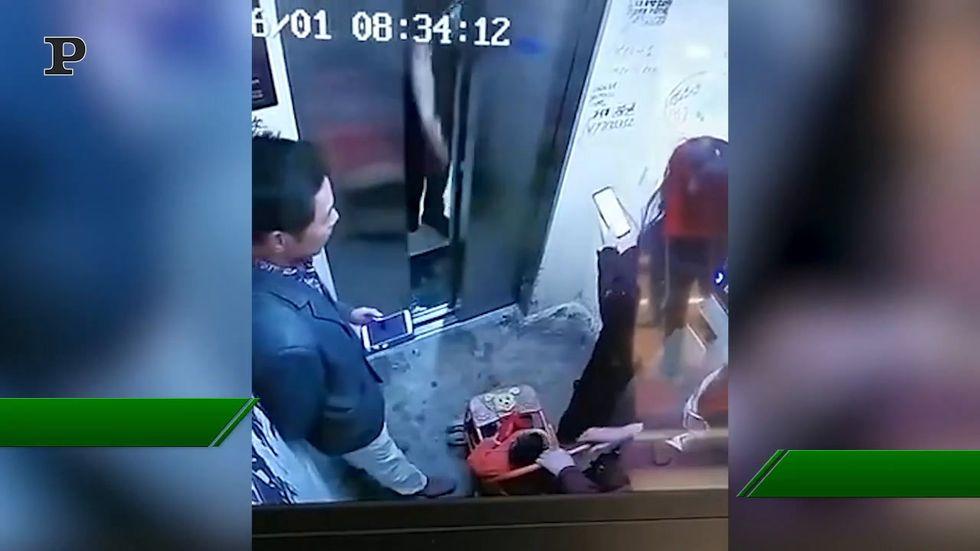 Il cane rischia di strozzarsi in ascensore, ma nessuno alza