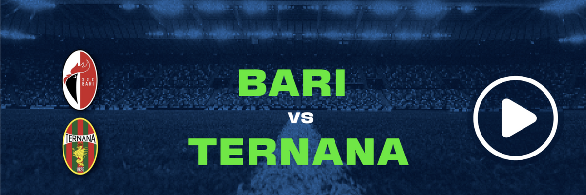 Guarda in diretta Bari - Ternana