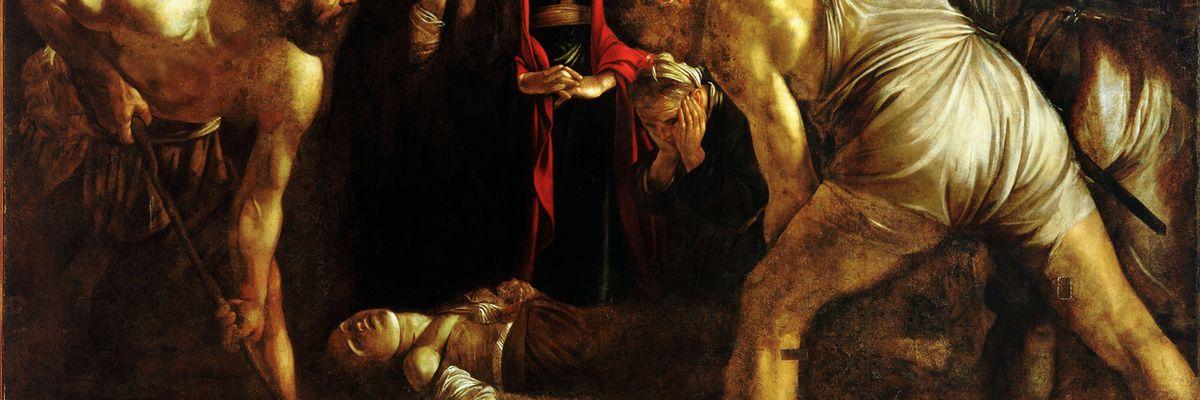Quando Caravaggio dialoga con Burri