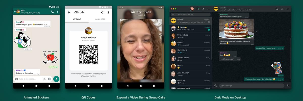 Sticker animati, codice QR e videochiamate, tutte le novità di WhatsApp