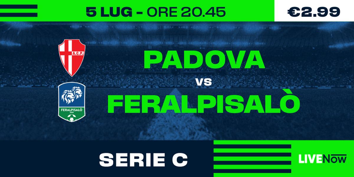 Guarda in diretta Padova - Feralpisalò