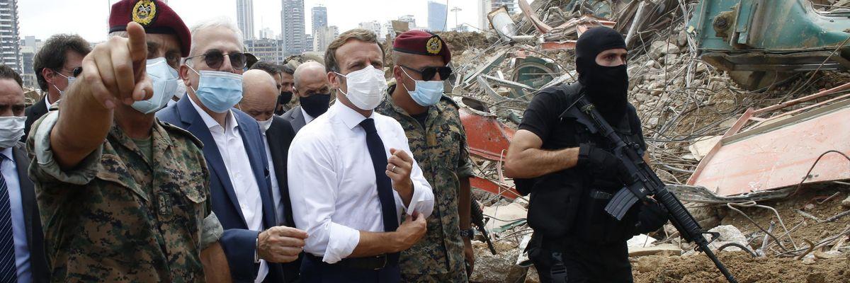 A fronteggiare la «Patria blu» di Erdogan c'è solo Macron
