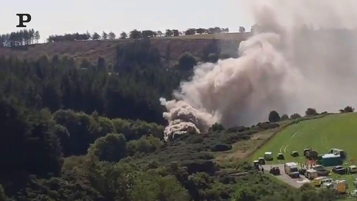 Incidente ad un treno ad Aberdeen, Scozia | video