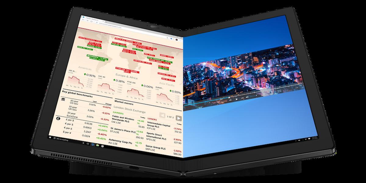Lenovo lancia il ThinkPad X1 Fold, il pc con schermo flessibile