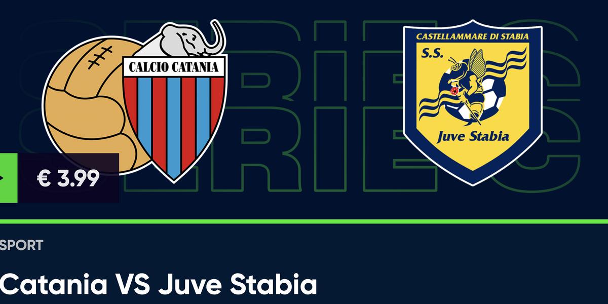 Guarda in diretta Catania - Juve Stabia