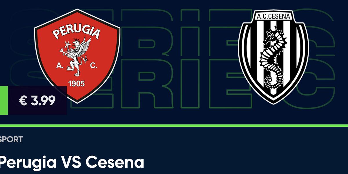 Guarda in diretta Perugia - Cesena