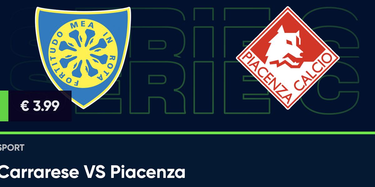 Guarda in diretta Carrarese - Piacenza