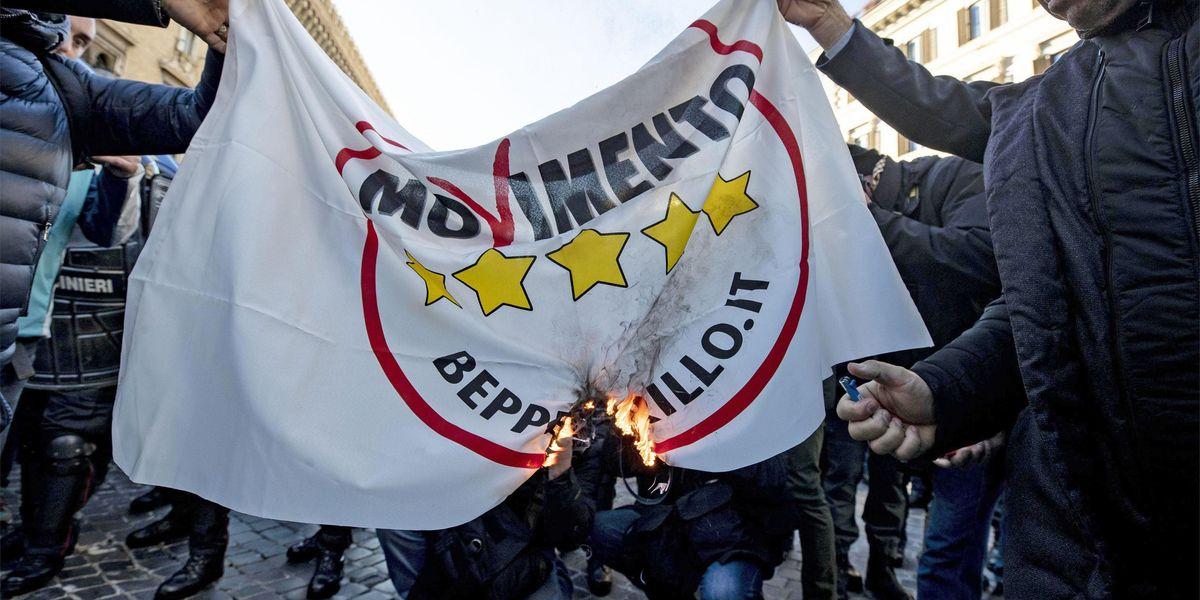 La mappa della scomparsa del Movimento 5 Stelle