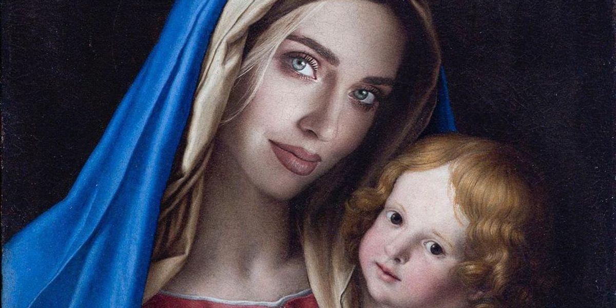 Macché blasfemia: la Madonna con il volto della Ferragni è geniale