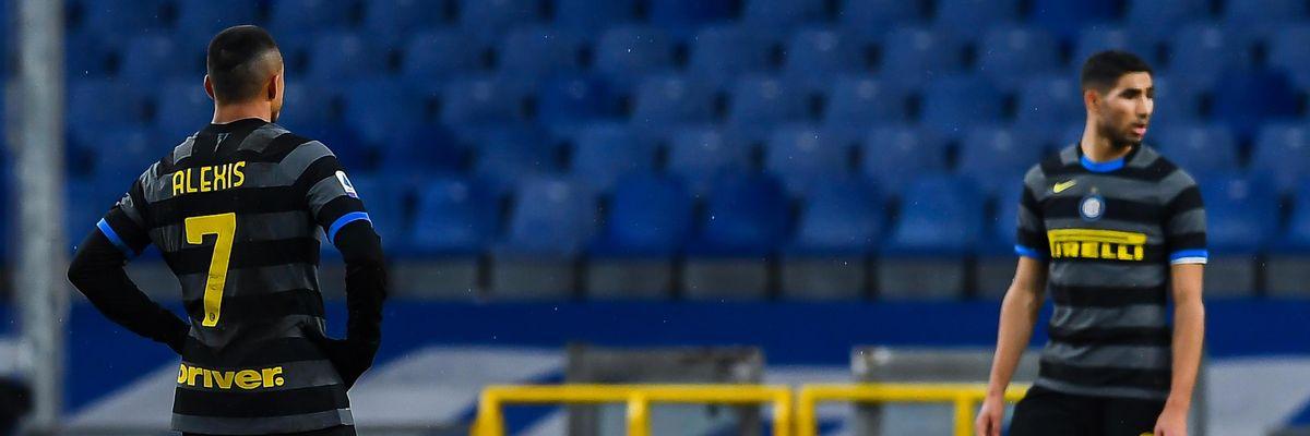 sanchez hakimi inter maledizione di gennaio serie a campionato sampdoria
