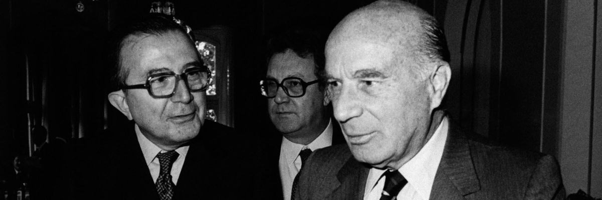 Giulio Andreotti e Guido Carli