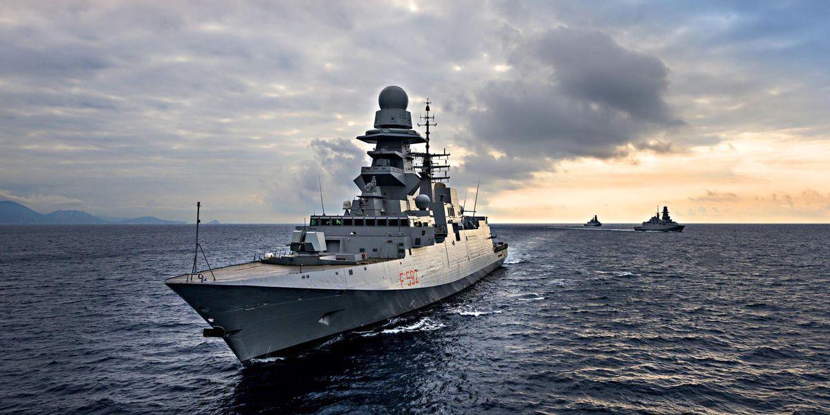 """Fregata classe Fremm F-592 """"Carlo Margottini"""" Fincantieri"""