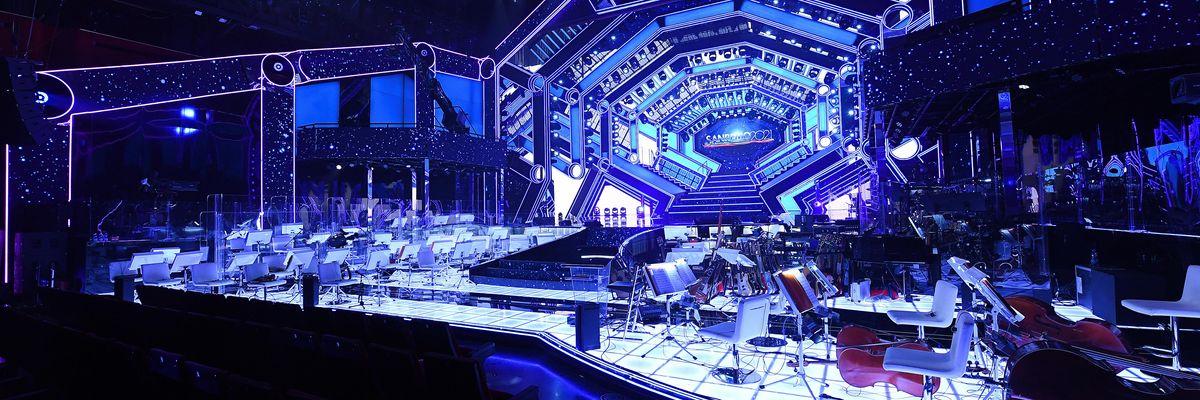 Sanremo 2021: la scenografia del Festival è una gigantesca astronave