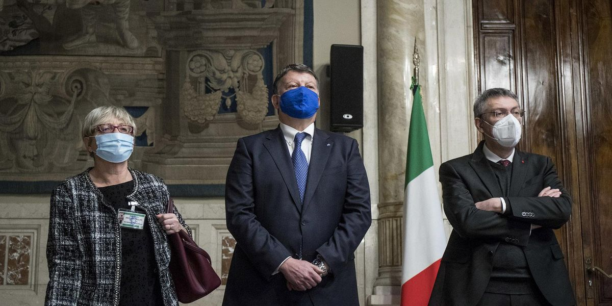 Anna Maria Furlan (CISL), Paolo Bombardieri (UIL), Maurizio Landini (CGIL)