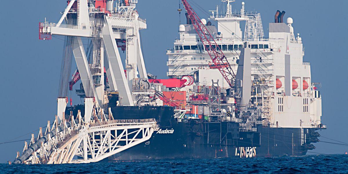 nave Audacia tubi gasdotto Nord Stream 2 Mar Baltico