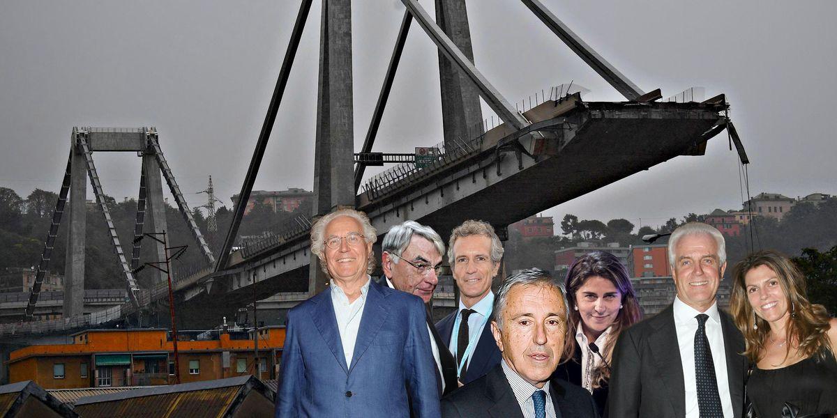 Luciano Benetton, Gianni Mion, Alessandro Benetton, Giovanni Castellucci, Franca Bertagnin Benetton, Gilberto Benetton (deceduto) e Sabrina Benetton