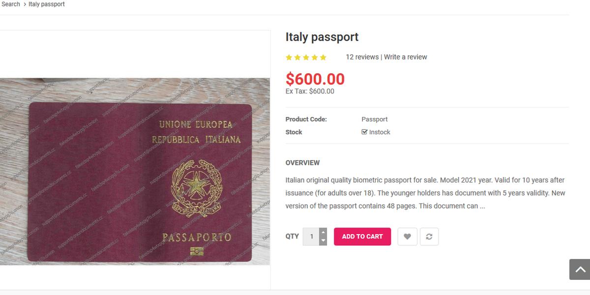 passaporto falso