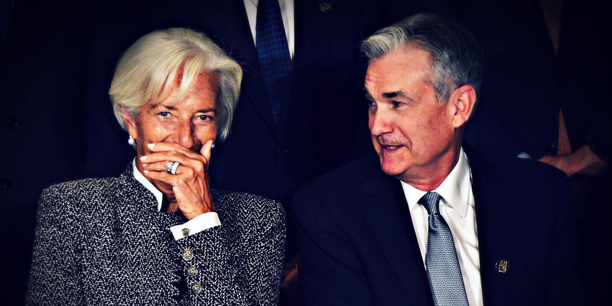 Christine Lagarde, Bce; Jerome Powell, Federal Reserve