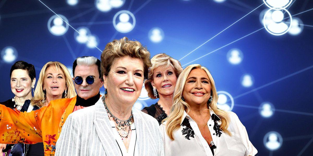 influencer Isabella Rossellini Rita Dalla Chiesa Cristiano Malgioglio Mara Maionchi Jane Fonda  Mara Venier