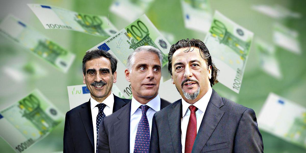 Luigi Lovaglio (Creval) Andrea Orcel (UniCredit) Carlo Cimbri (Unipol)
