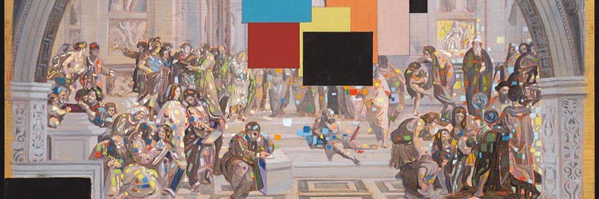 Salvador Dalí   La scuola di Atene e L'incendio di Borgo. Opera stereoscopica