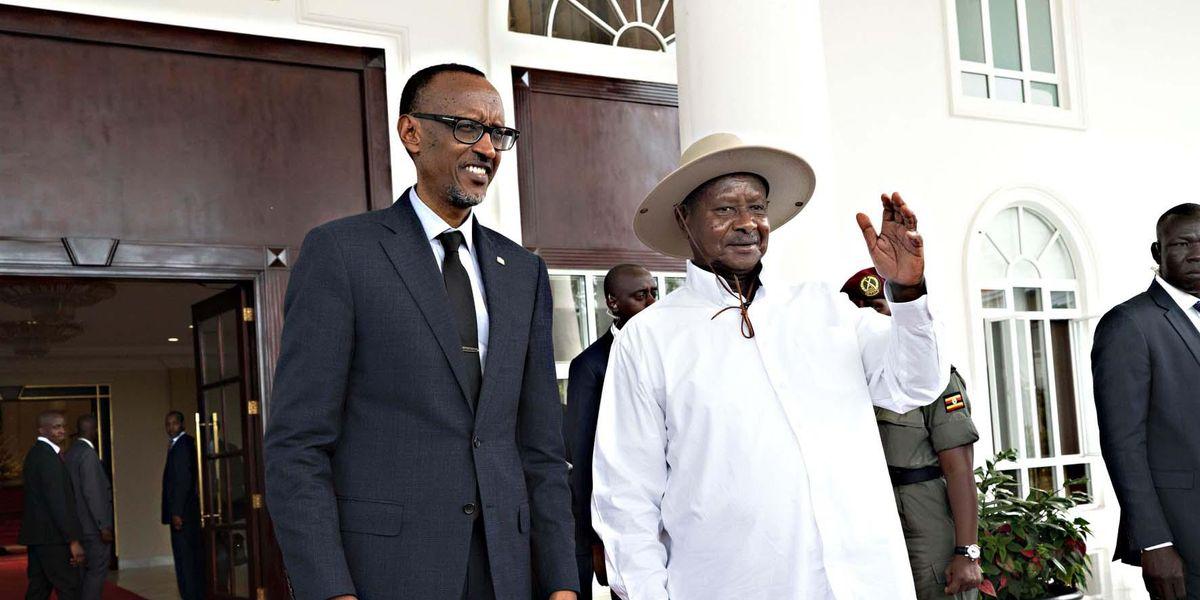 Presidente Uganda Yoweri Kaguta Museveni Presidente Ruanda Paul Kagame
