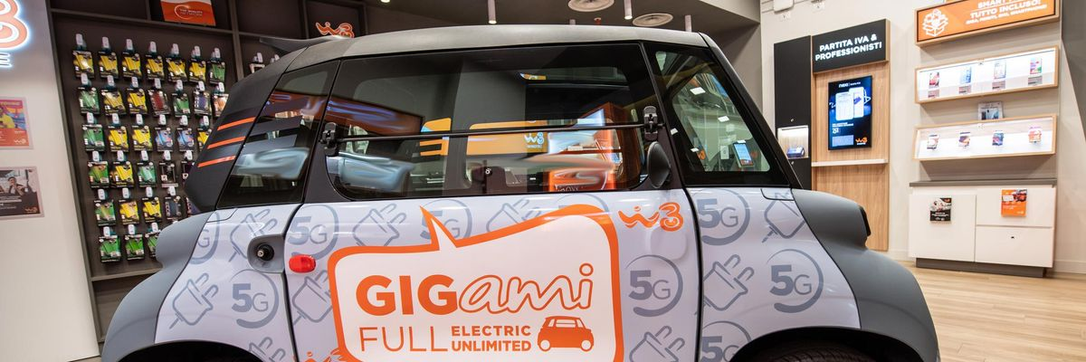 Windtre e Citroen presentano Ami, un'auto elettrica iperconnessa